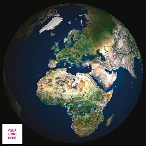 personalised satellite image  europe  africa globe
