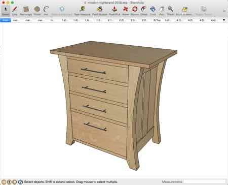 Mission Style Nightstand Plans by Mission Nightstand With A Twist