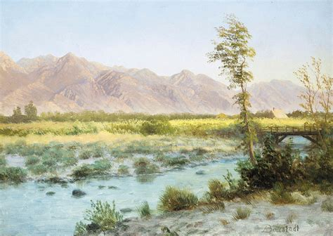 Western Landscape Painting By Albert Bierstadt