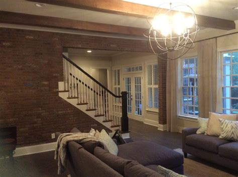 Industrial And Rustic Mix In Basement Makeover