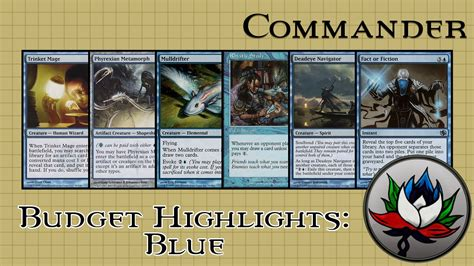 Blue Artifact Commander Deck by Best Blue Edh Commander Cards For 5 Mtg