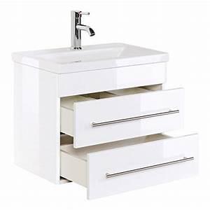 Soft Close Schublade : mars 600 badm bel slimline mdf wei hochglanz x x cm waschbecken ~ Orissabook.com Haus und Dekorationen