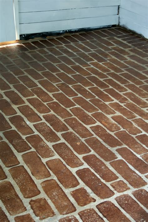 faux brick flooring the virginia house faux stained brick floor tutorial