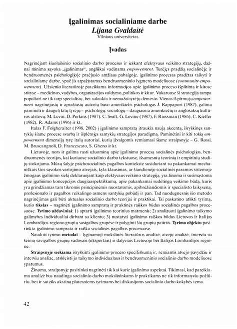 (PDF) Įgalinimas socialiniame darbe