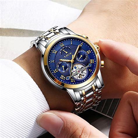 herren armbanduhren automatik herren uhren lige automatik mechanische armbanduhren edelstahl wasserdichte datum kalender