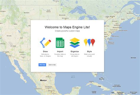 google maps engine lite is a simple tool for creating