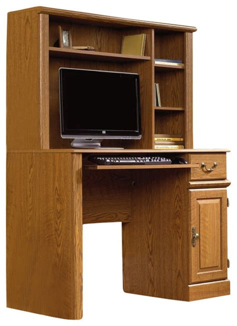 all wood desk with hutch sauder orchard hills small wood computer desk with hutch