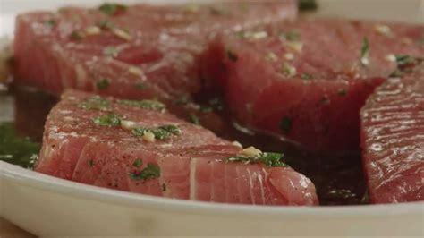 how to grill tuna steaks how to make easy grilled tuna steaks tuna recipe allrecipes youtube
