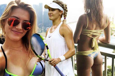eugenie bouchard tennis stunner sets wimbledon fans
