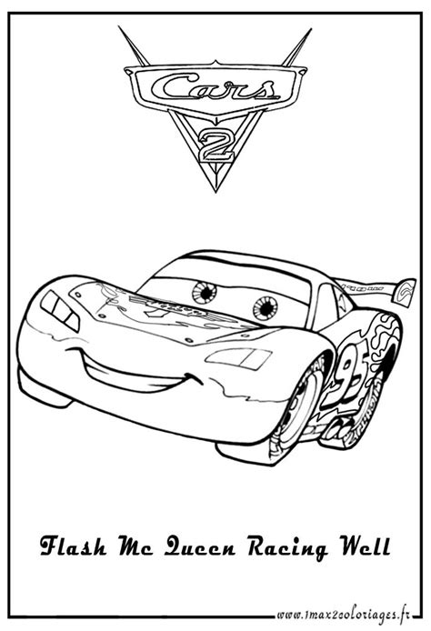Cars 2 Lightning McQueen Coloring Pages
