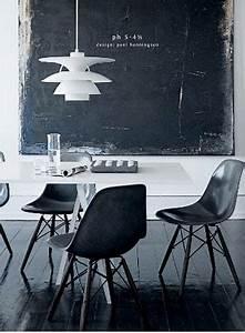 Solde Table A Manger : salle a manger design couleur noir et blanc ~ Teatrodelosmanantiales.com Idées de Décoration