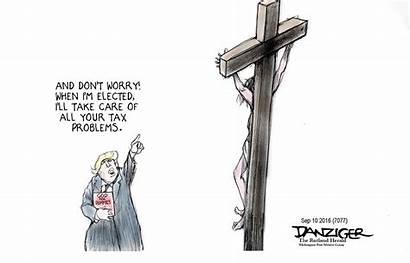 Trump Christian Cartoon Jesus Cartoons Political Religious