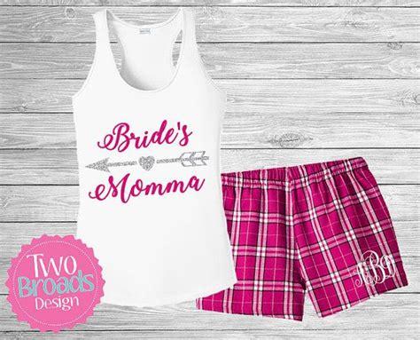 Bridesmaid Pajama Short Set Mother Of The Bride Pajamas