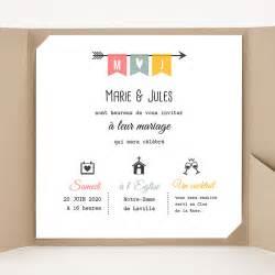 modã le faire part mariage faire part mariage pochette carré flèche de cupidon carteland