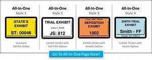 electronic exhibit stickers for adobe acrobat With exhibit label template