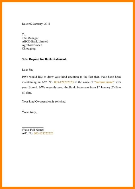 request letter format bank manager sample letter format