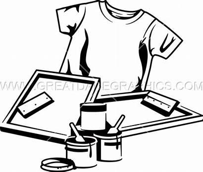 Printing Screen Clipart Equipment Tshirt Clip Press
