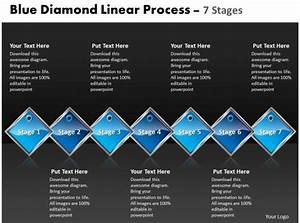 Business Powerpoint Templates Blue Diamond Linear Process 7 Phase Diagram Ppt Sales Slides