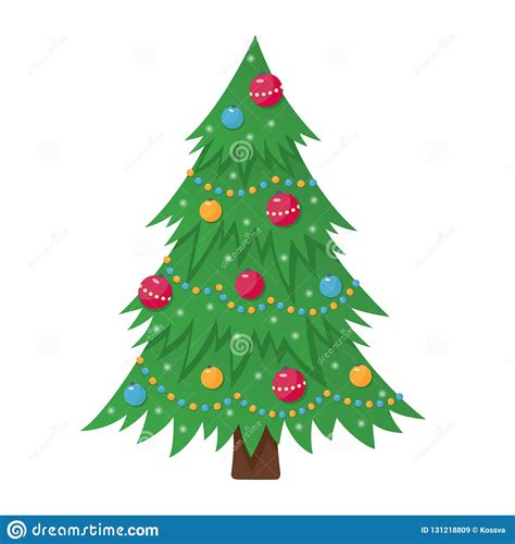 Find & download free graphic resources for merry christmas and happy new year. Decorated Christmas Tree With Lights, Decoration Balls And ...