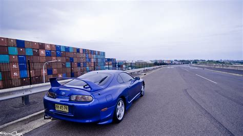 Toyota Supra, Car, Blue Cars, Vehicle, Toyota Wallpapers