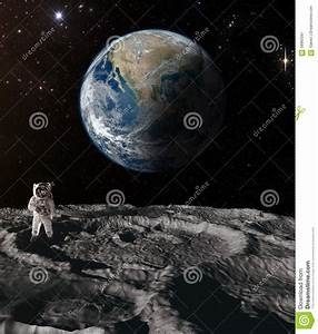 Astronaut on the moon. stock image. Image of space, flight ...