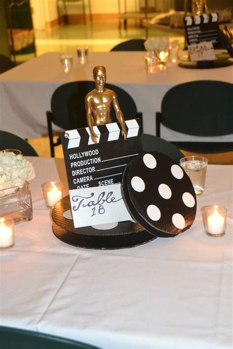 hollywood theme centerpiece  hollywood theme party