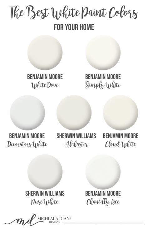 the best white paint colors micheala diane