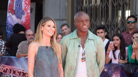 He looks almost like a european soccer player. Heidi Klum and Seal Celebrate Daughter Lou's Birthday With ...