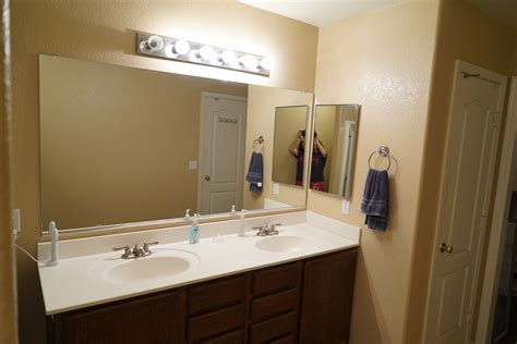 Diy Bathroom Mirror Frame For Under $10  Rise And Renovate