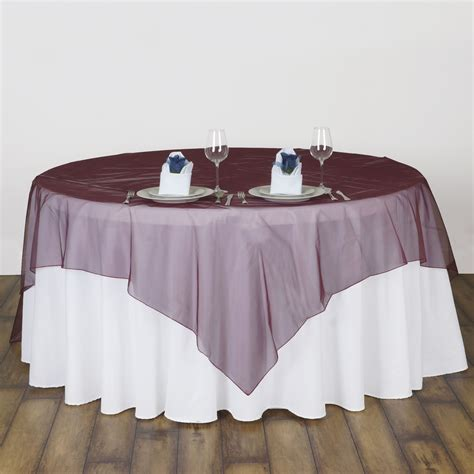 60x60 square tablecloth 6 x sheer organza 60x60 quot square table overlays toppers 1119