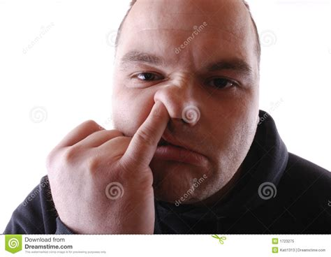 Picking Nose Stock Image. Image Of Clothing, Male, Person