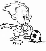 Soccer Cartoon Playing Cliparts Coloring Pages Printables sketch template