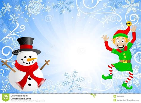 blue christmas background   snowman   el cartoon