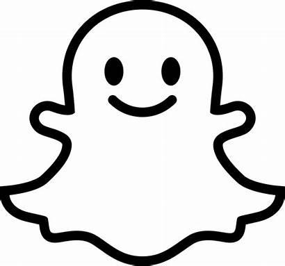 Snapchat Outline Clipart Svg Icon Social Smile