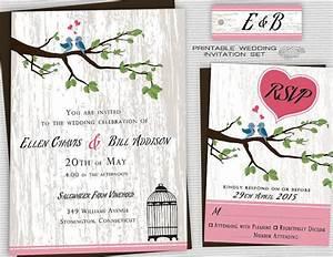 printable backyard wedding invitations country wedding With free printable love bird wedding invitations