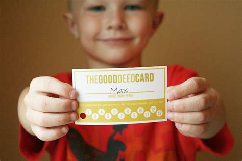 printable good deed punch cards printables  mom