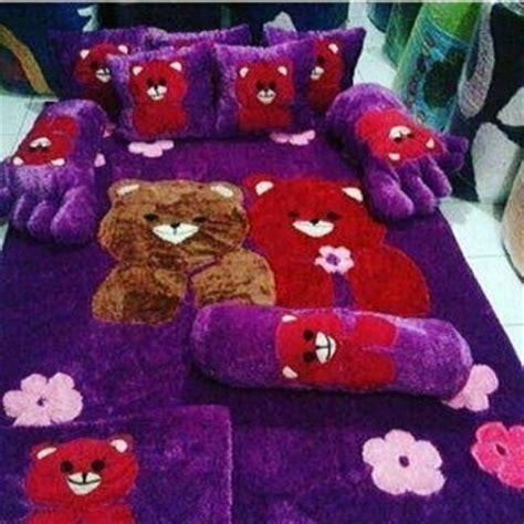 Karpet Karakter Motif Zebra jual karpet karakter motif teddy fullset di lapak