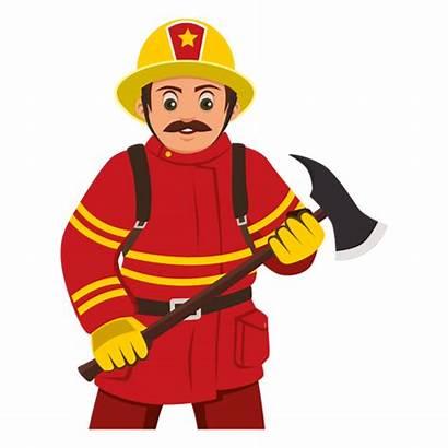 Clipart Fireman Bombero Cartoon Firefighter Transparent Svg