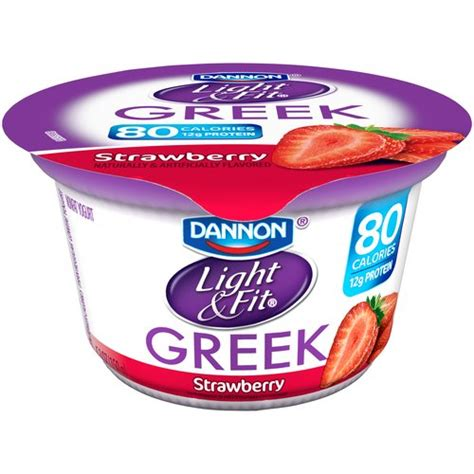 dannon yogurt light and fit dannon light fit strawberry nonfat yogurt 5 3 oz