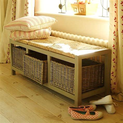 storage bench with baskets storage bench with wicker baskets decoist