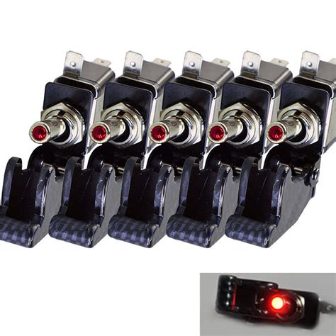 ee support 5 x led light switch diy car accessories 12v