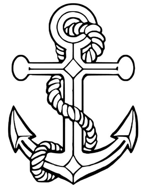 Anchor vinyl decal sticker by SuperBVinyl on Etsy | Coloring pages | Anchor drawings, Coloring
