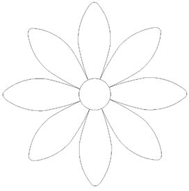 daisy flower applique pattern appliq patterns flower
