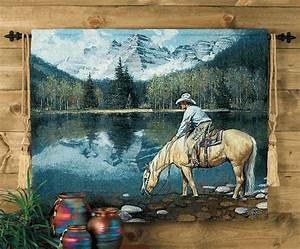 colorado cowboy tapestry wall hanging With best brand of paint for kitchen cabinets with cowboy canvas wall art