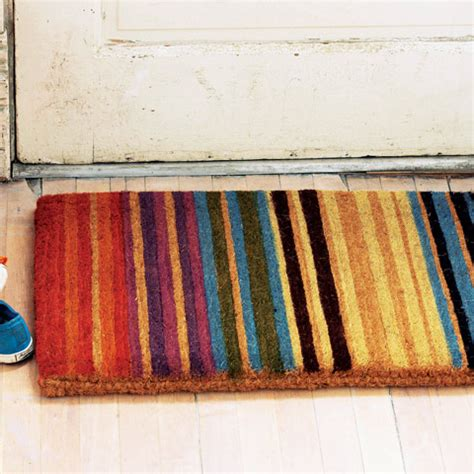 Colorful Doormat by Amalfi Striped Door Mat All Gifts Olive Cocoa
