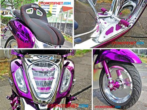 Motor Scoopy Ungu by Modifikasi Motor Honda Scoopy Chrome Paling Keren