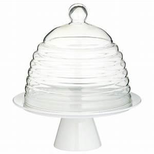 Cloche à Gateau : plat g teau sur pied avec cloche verre ustensiles de patisserie creavea ~ Teatrodelosmanantiales.com Idées de Décoration