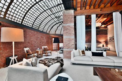 Cavernous Cool Interior by 4 5m Industrial Tribeca Loft Is Both Cavernous And Airy