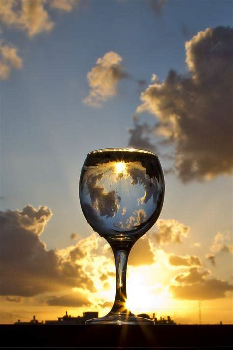 sunset photography  drinking glass xcitefunnet