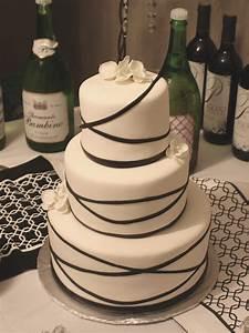 Simple Fondant Wedding Cake - Fondant Cake Images